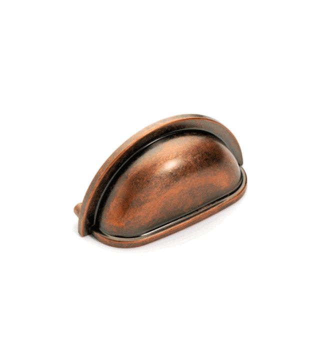 Dynasty Hardware Cabinet Bin Pull Antique Copper