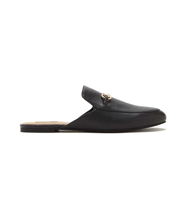 Forever 21 Faux Leather Loafer Slides