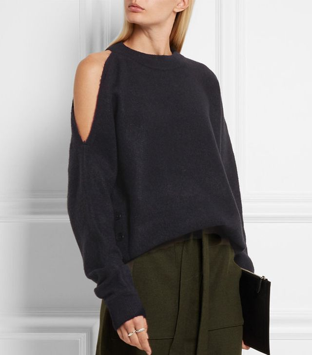 Tibi Cutout Knitted Sweater