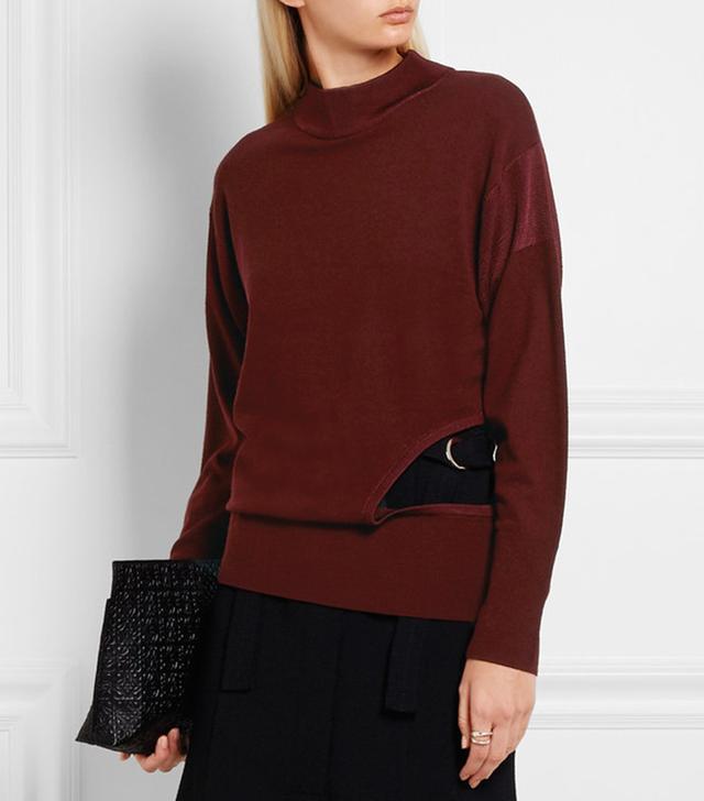 DKNY Cutout Wool Sweater