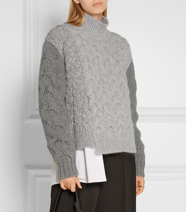 Stella McCartney Cable Knit Turtleneck Sweater