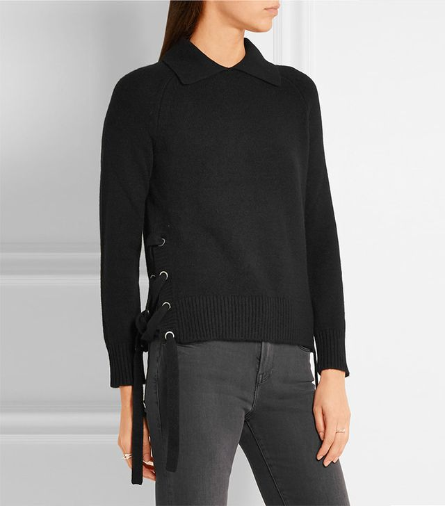 Frame Side Tie Cashmere Sweater