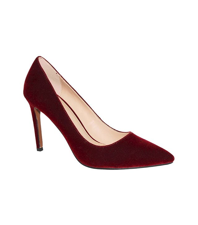 Who What Wear Ally Velvet Pumps