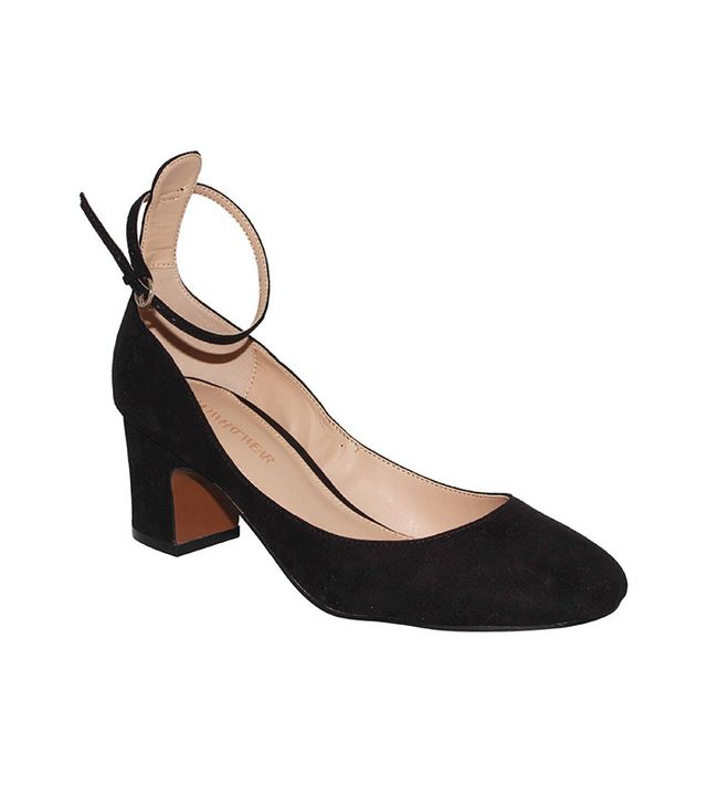 Who What Wear Angelique Microsuede Quarter Strap Pumps