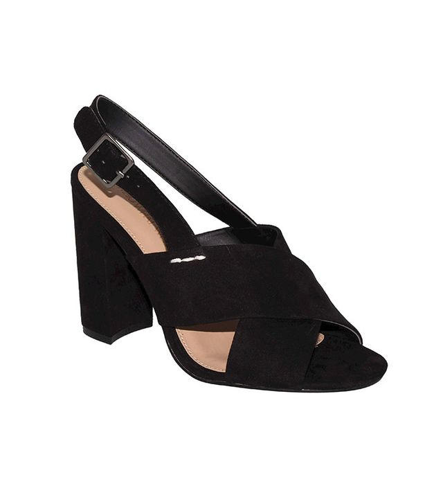 Who What Wear Harper Microsuede Crossband Block Heels