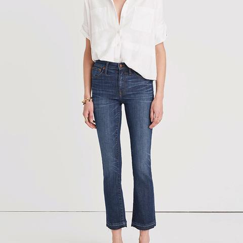 Cali Demi-Boot Jeans in Mitchell Wash: Drop-Hem Edition