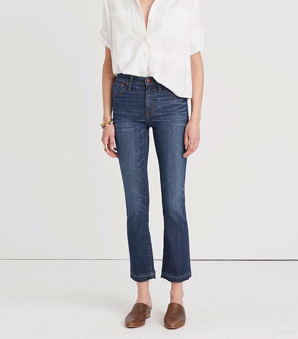 Madewell Cali Demi-Boot Jeans in Mitchell Wash: Drop-Hem Edition