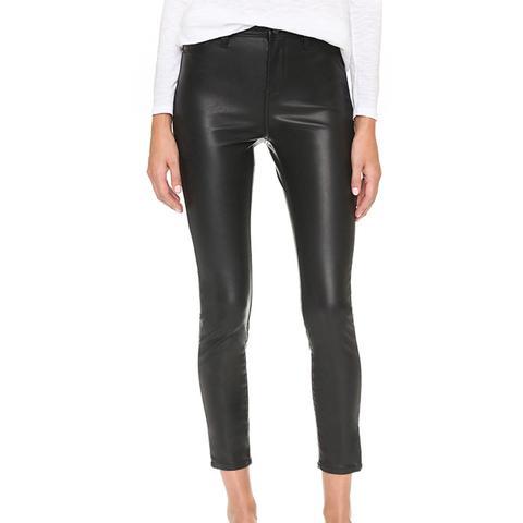 Mid-Rise Vegan Leather Skinny Pants