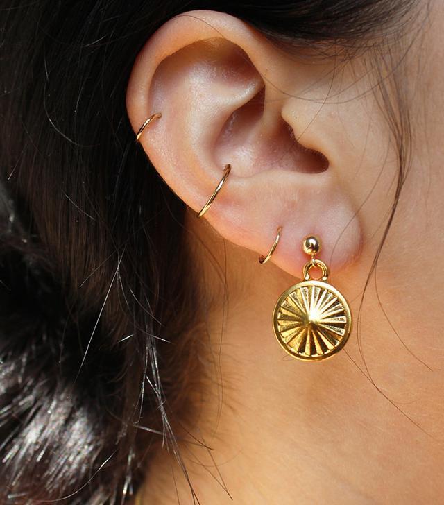 Baby Rivoli Medallion Earrings
