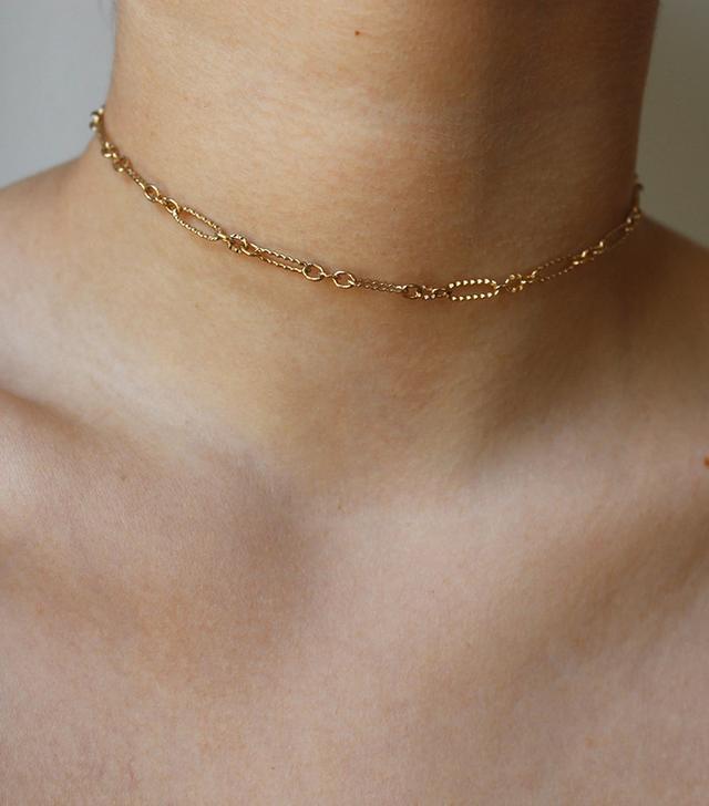 Flora Gold Link Choker