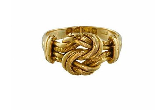 Metier Antique 18k Gold Knot Ring