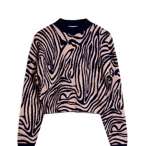 Jacquard Zebra Sweater
