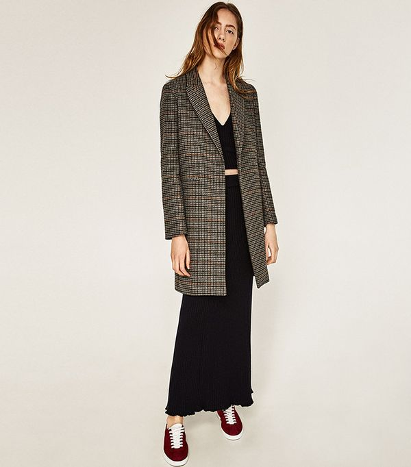 Zara Masculine Checked Coat