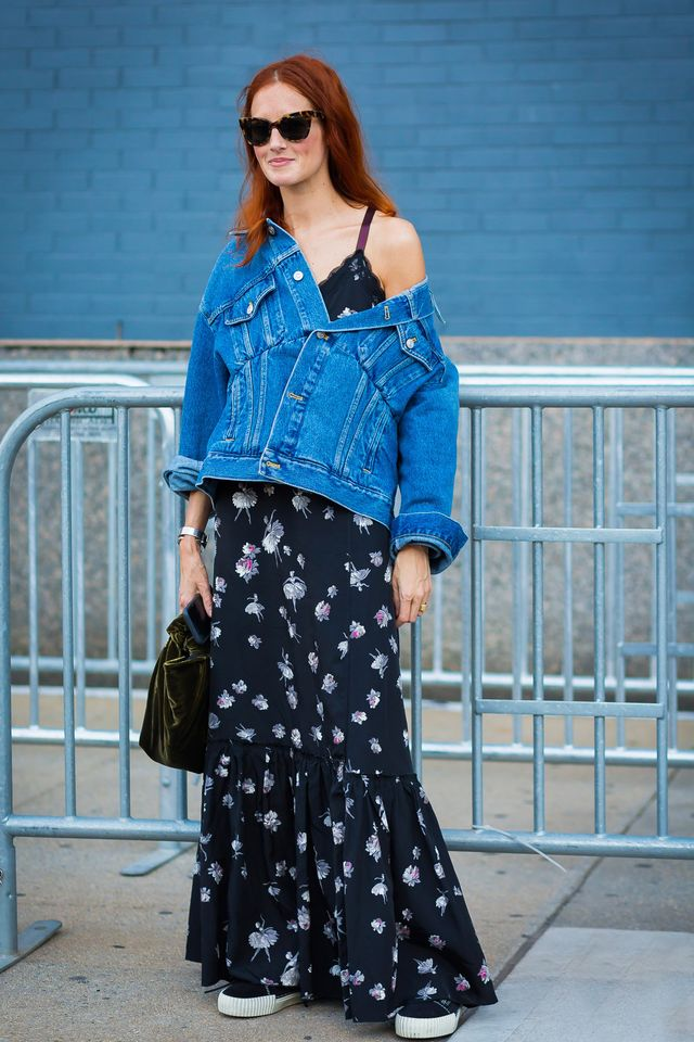 Add a slouchy denim jacket