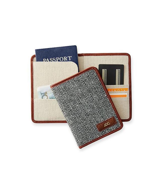 Mark & Graham Herringbone Travel Wallet