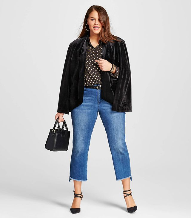 Who What Wear Plus Size Cape Blazer