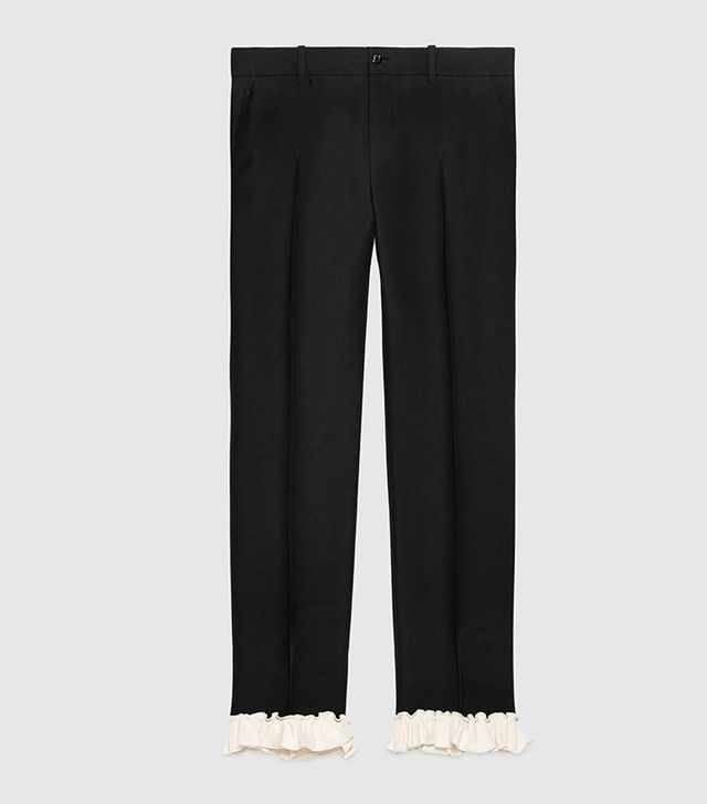 Gucci Silk Wool Ankle Pant