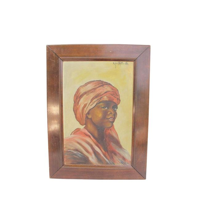 W. JAY Miles African American Woman Oil Painting 1898