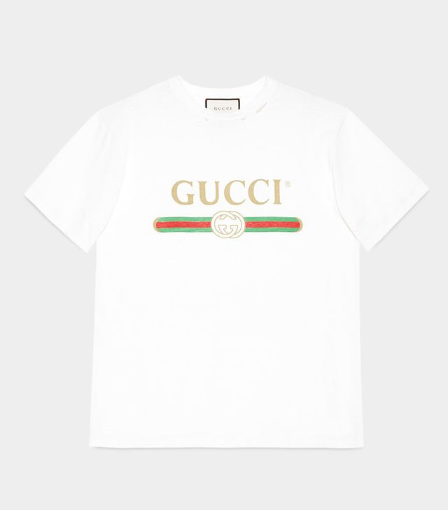 the gucci logo shirt you 39 ve seen all over instagram. Black Bedroom Furniture Sets. Home Design Ideas