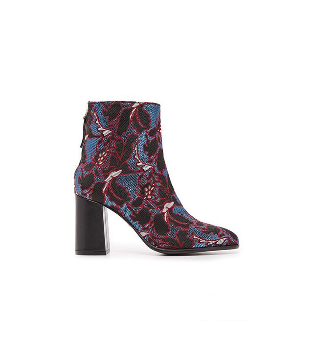 MSGM Floral Embroidery Booties