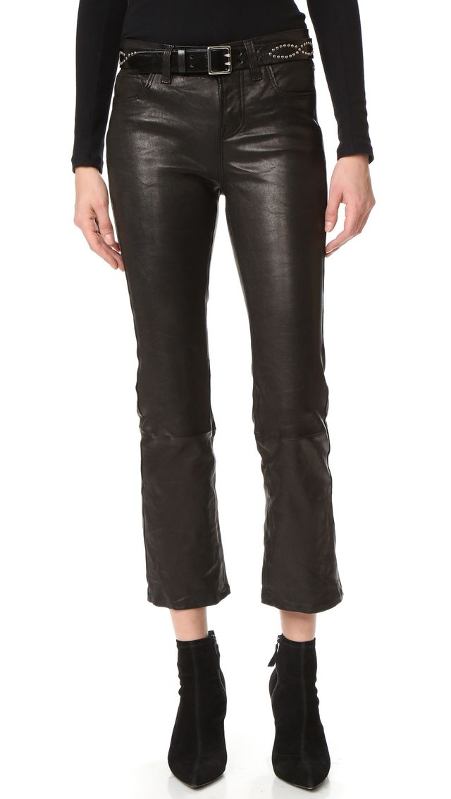 J Brand Selena Cropped Leather Pants