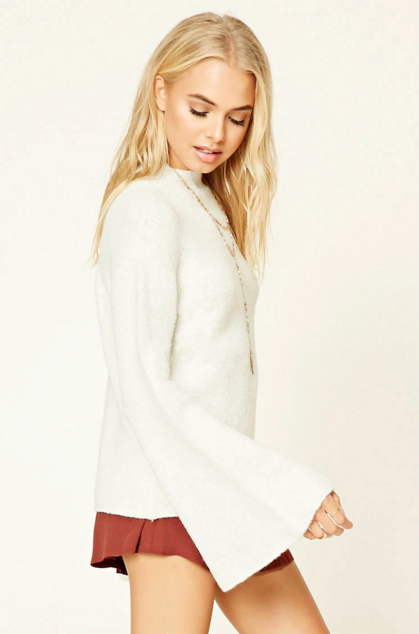 Forever 21 Brushed Mock Neck Sweater
