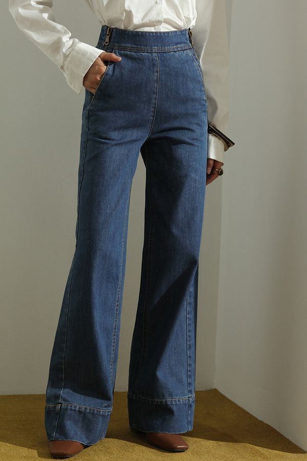 Genuine People Wide-Leg Jeans