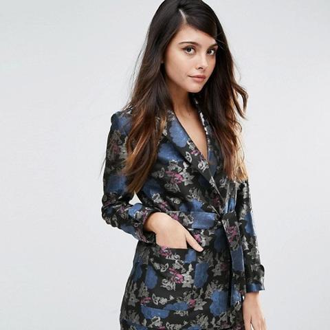 Kimono Blazer In Jacquard