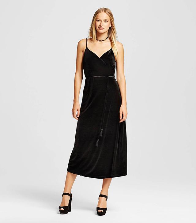 Target Velvet Wrap Slip Dress