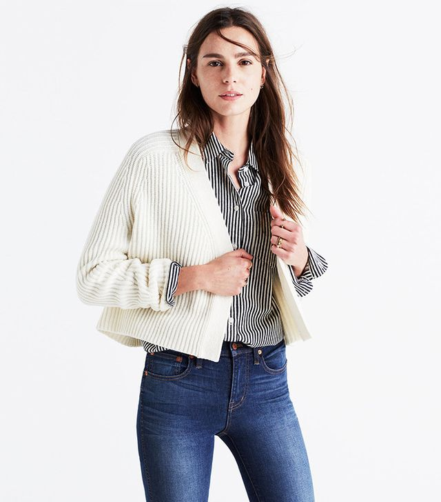 Madewell Crop Cardigan Sweater