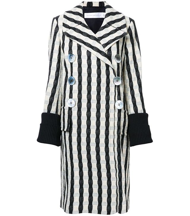 Victoria Beckham Striped Coat