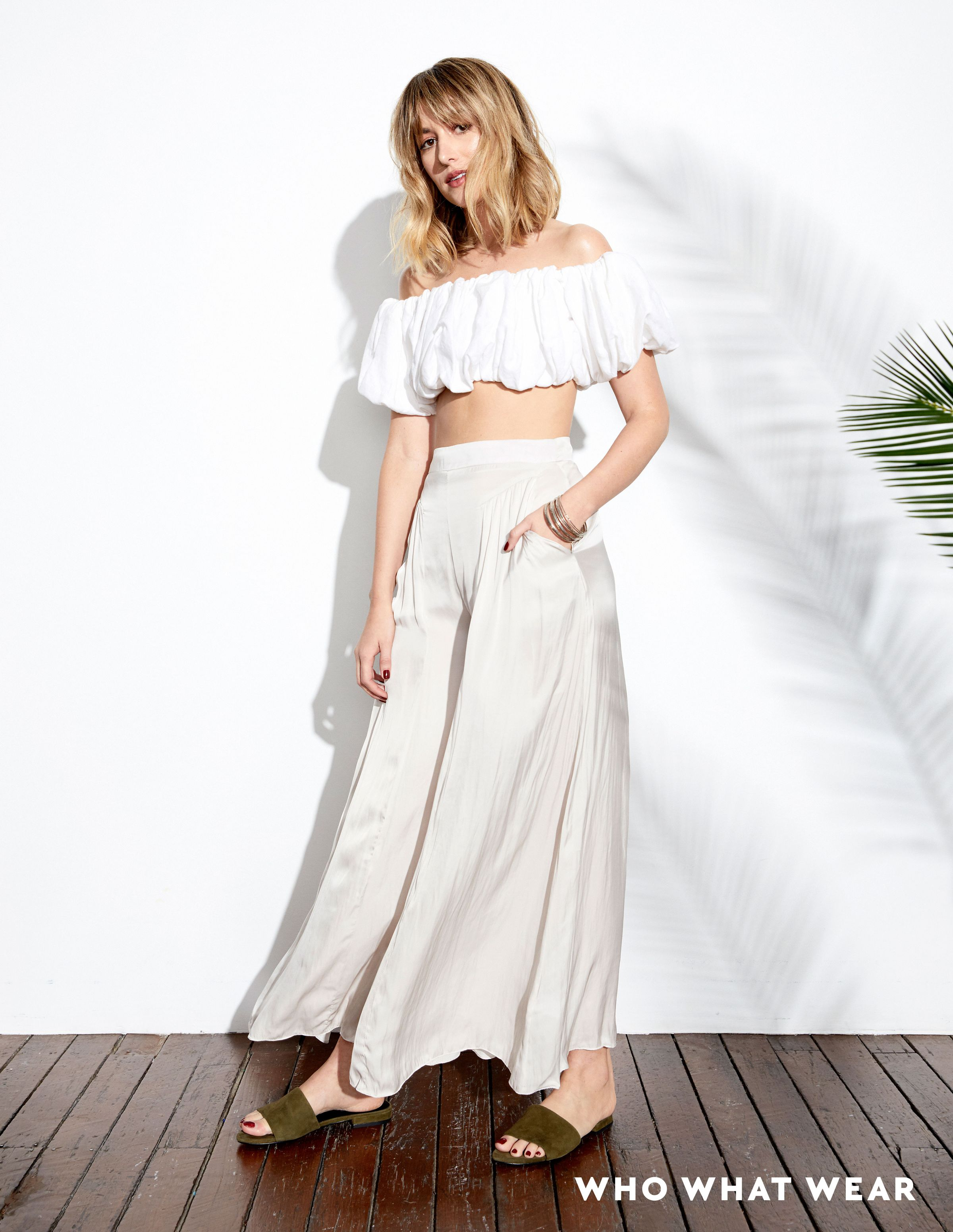 Pictured: Georgia Alice Crop Top (coming soon), Morrison Corbett Pants ($299), Susan Driver Bangles (coming soon), Senso Zulu Mules ($179). WWW: What's your vision...