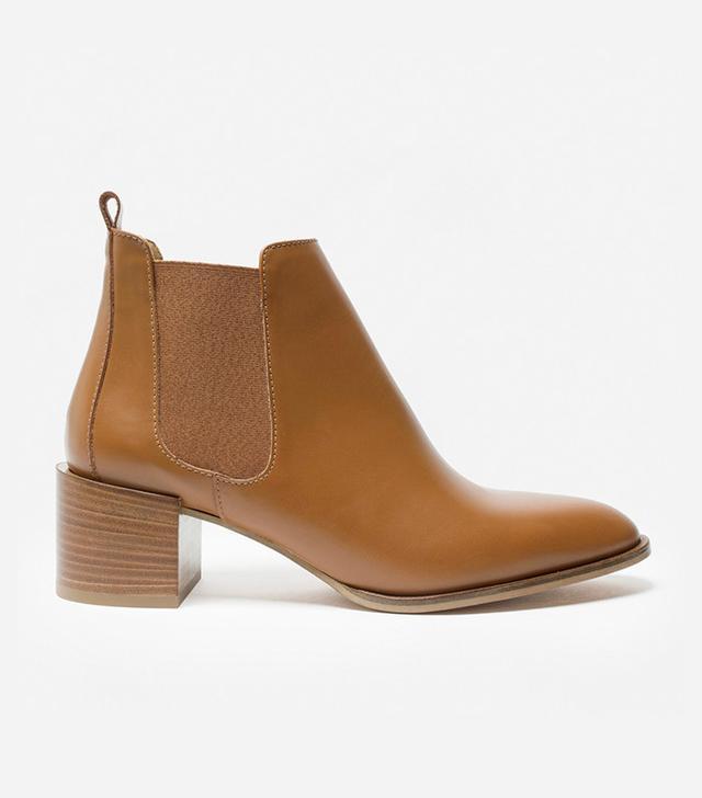 Everlane The Heel Boots in Cognac