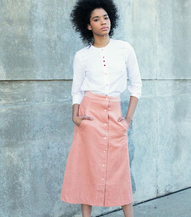 Rachel Antonoff Blush Mikey Midi Skirt