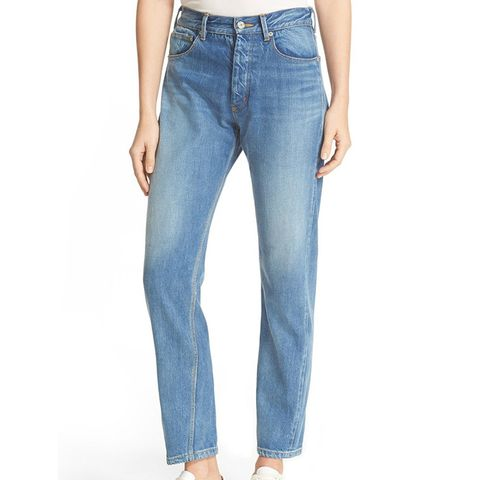 Beatrice High Rise Crop Straight Leg Jeans