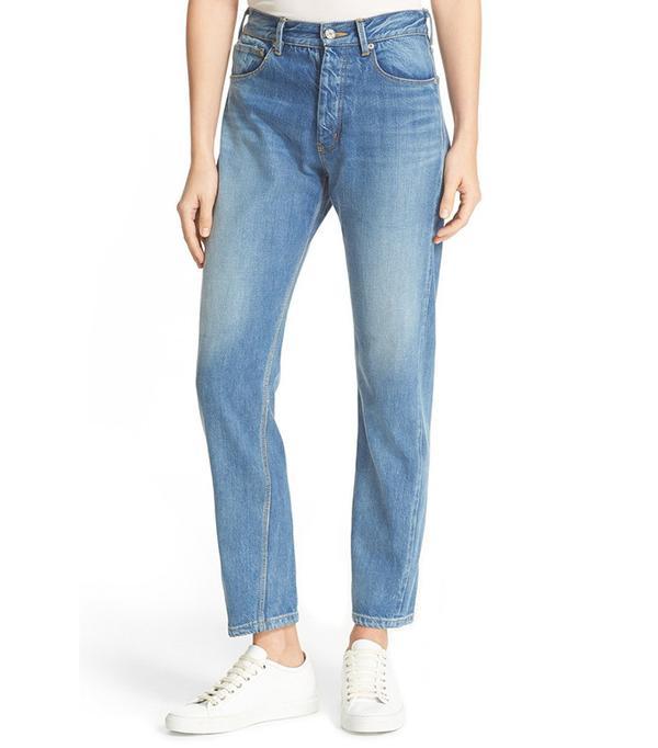 La Vie Rebecca Taylor Beatrice High Rise Crop Straight Leg Jeans