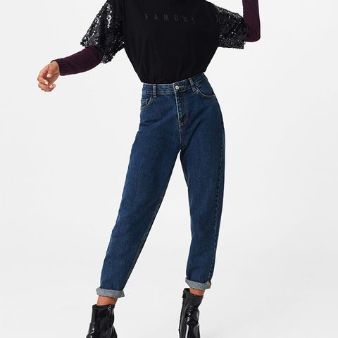 Relaxed Cropped Mom Jeans