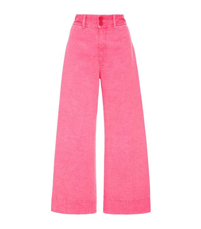 Apiece Apart Zinc Pink Cropped Pants