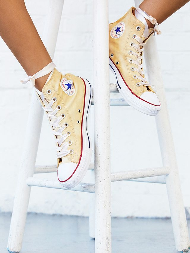 Converse Dance Moves Hi Top Chucks in Ivory With White Laces