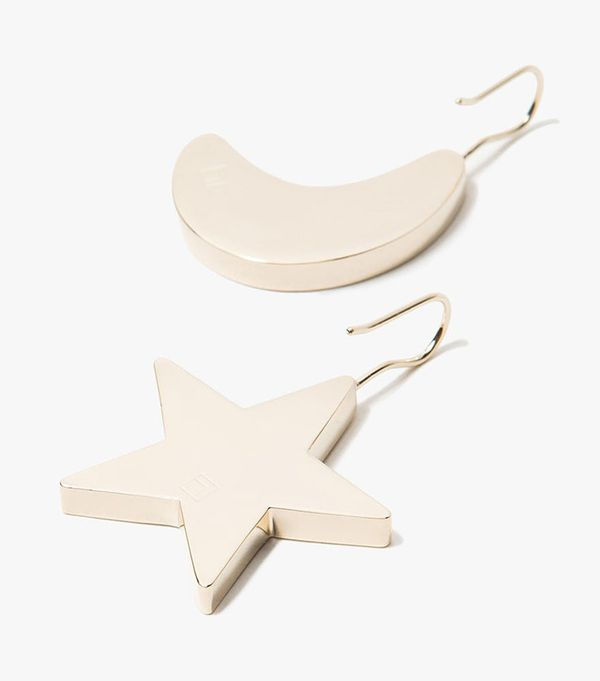 Trademark Star and Moon Earrings in Gold
