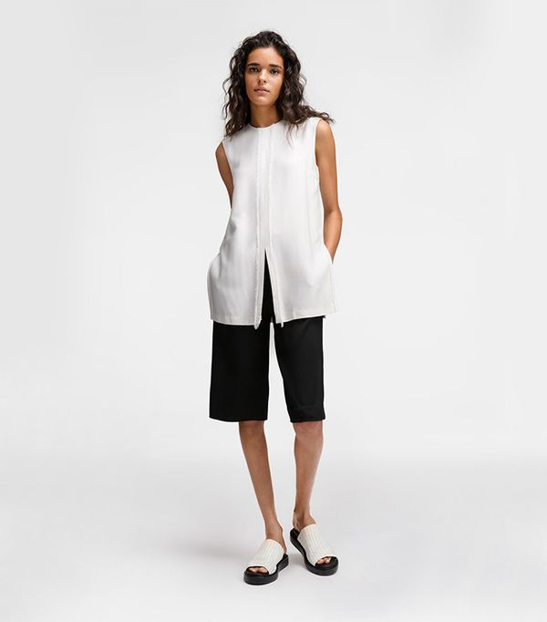 DKNY Layered Short Jumpsuit