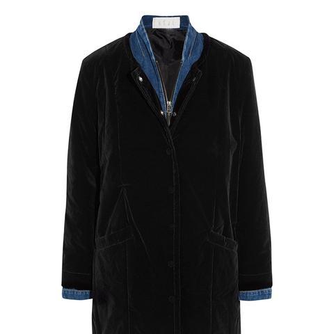 Velvet and Denim Coat