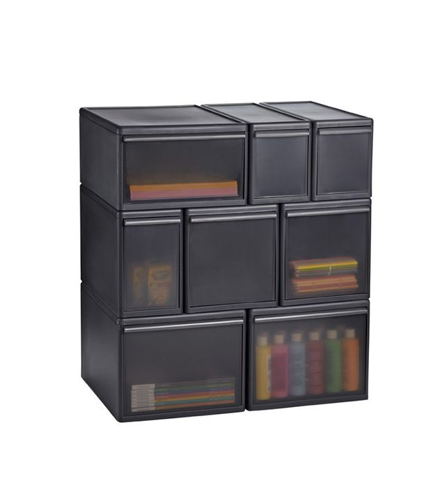 Container Store Like-It Smoke Modular Drawers