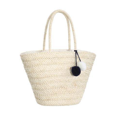 Kmart Bucket Beach Bag With Pom Poms