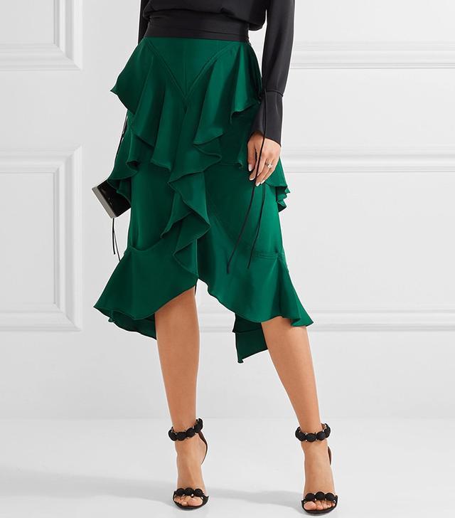 Juan Carlos Obando Miranda Tiered Ruffled Midi Skirt