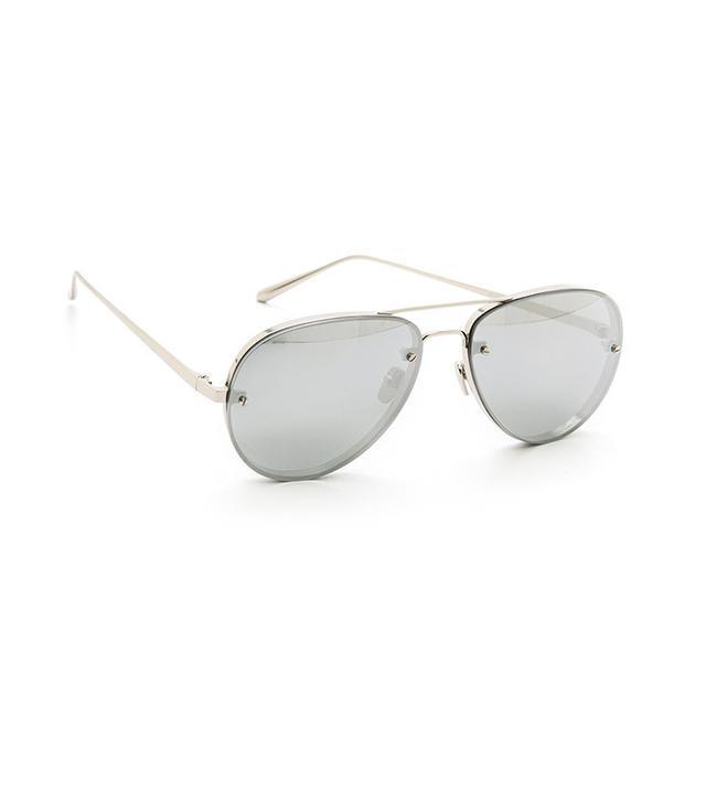 Linda Farrow Luxe Mirrored Aviators