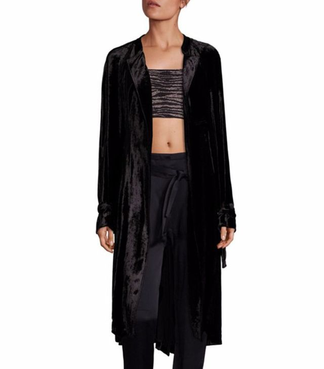 A.L.C. Augusto Velvet Wrap Coat