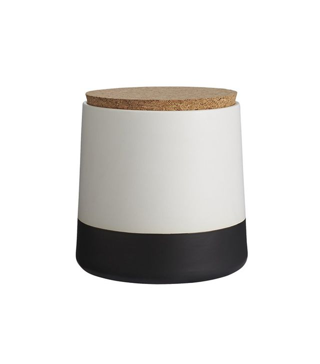 CB2 Dip Black and White Large Canister
