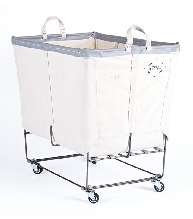Rejuvenation Bushel Canvas 3-Section Laundry Bin