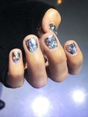 """Diamond Nails"" Are the Latest Korean Beauty Trend, and We Can't Stop Staring"
